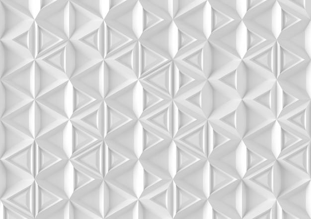 Fondo paramétrico basado en una cuadrícula triangular con diferentes patrones de diferentes volúmenes ilustración 3d