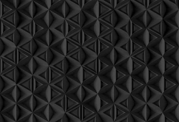 Fondo paramétrico basado en cuadrícula triangular con diferentes patrones de diferentes volúmenes