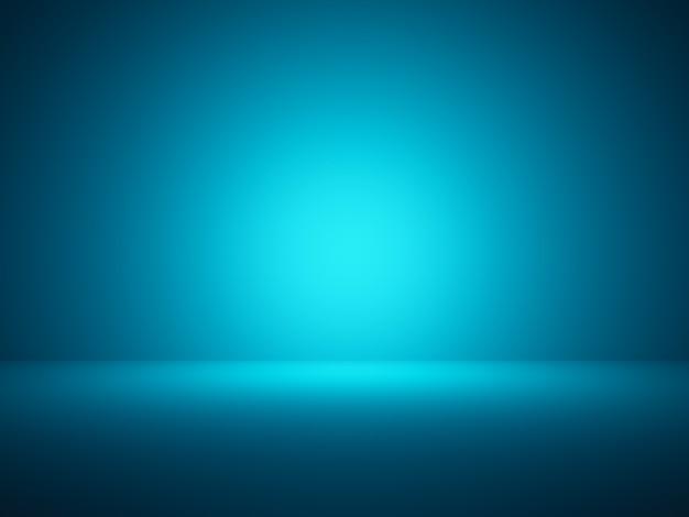 Fondo de pared azul de renderizado 3d