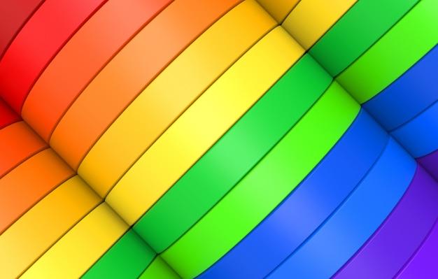 Fondo de pared de banner de diseño de panel de curva diagonal lgbt colorido arco iris