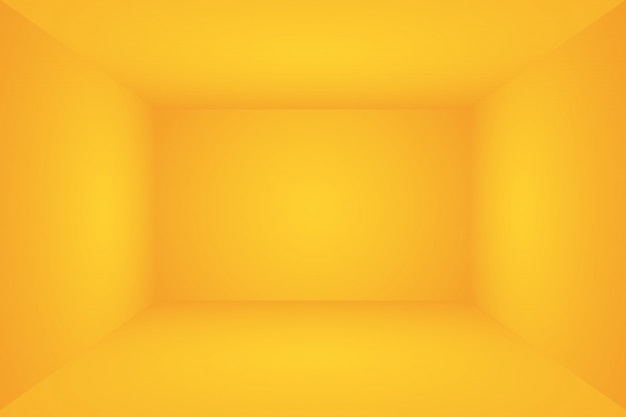 Fondo de pared de estudio de gradiente amarillo oro de lujo abstracto