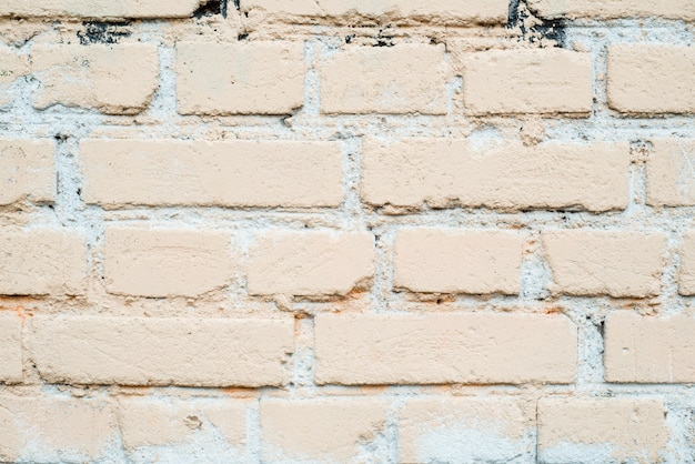 Fondo de pared de ladrillo blanco en sala rural