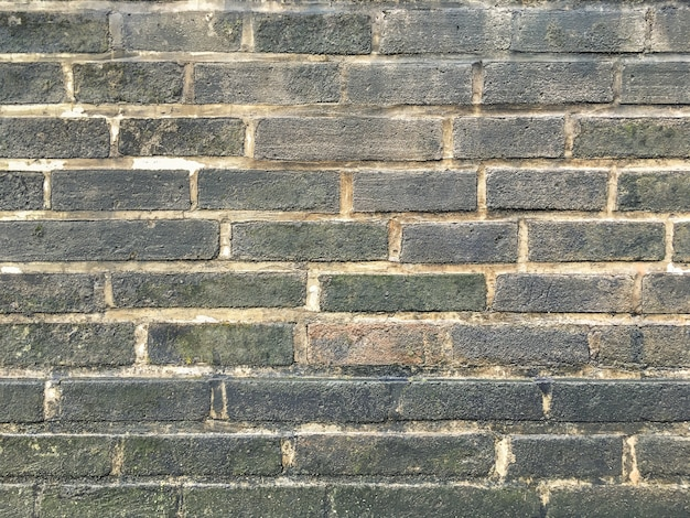 Fondo de pared de ladrillo gris grunge