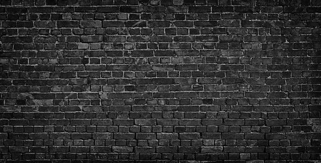 Fondo de pared de ladrillo negro