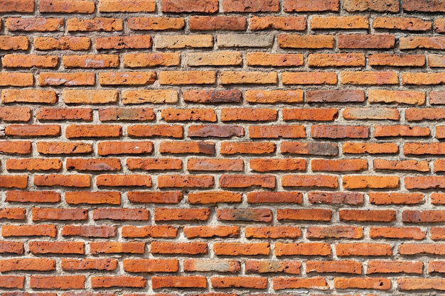 Fondo de pared de ladrillo rojo al aire libre