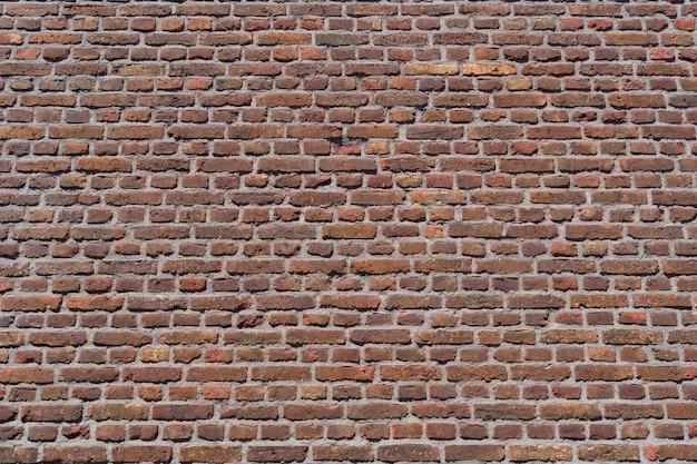 Fondo de pared de ladrillo rojo antiguo