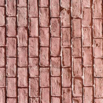 Fondo de pared de ladrillo rojo claro copia espacio