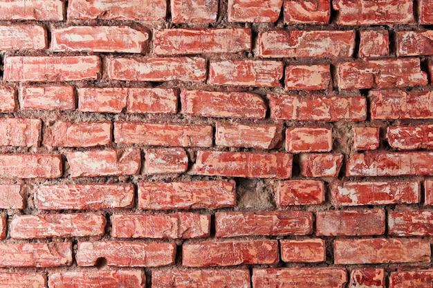 Fondo de pared de ladrillo rojo