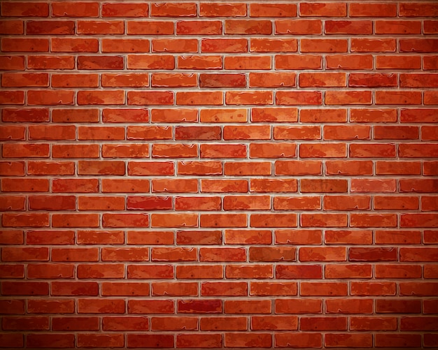 Fondo de pared de ladrillo rojo.