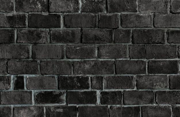 Fondo de pared de ladrillo con textura negro