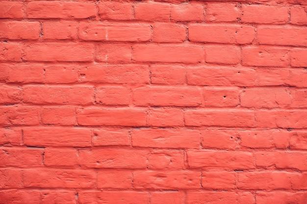 Fondo de pared de ladrillos rojos vintage y textura moderna