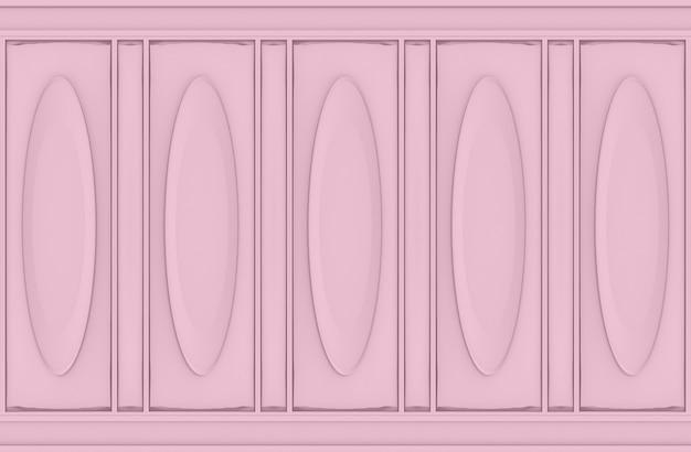 Fondo de pared de madera de lujo dulce suave rosado oval patrón clásico