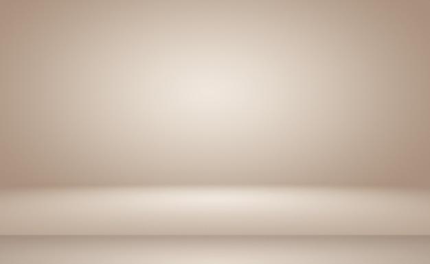 Fondo de pared marrón liso abstracto con color degradado de círculo suave