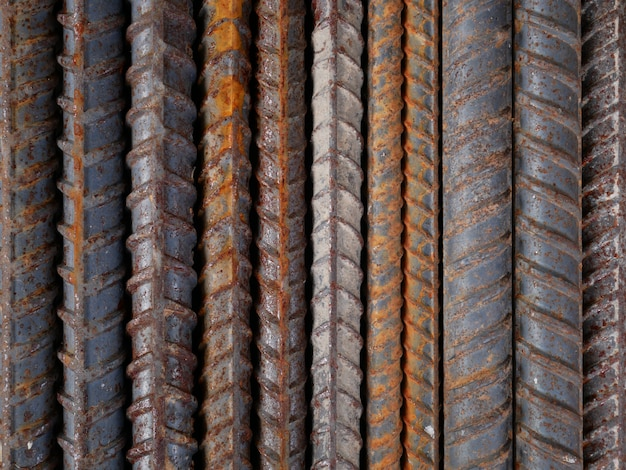 Fondo de pared de metal oxidado