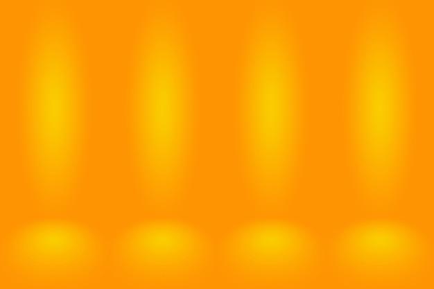 Fondo de pared de sala de estudio degradado naranja suave maqueta abstracta