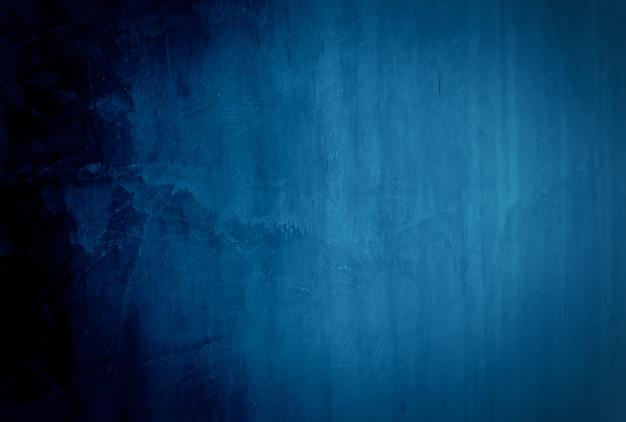 Fondo de pared de textura de hormigón azul grunge vintage