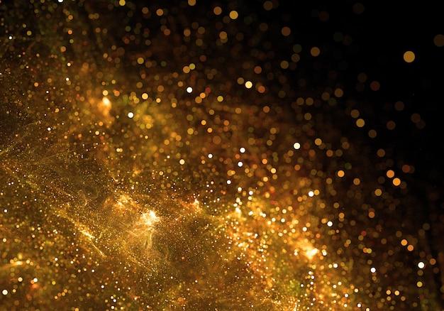 Fondo de partículas doradas