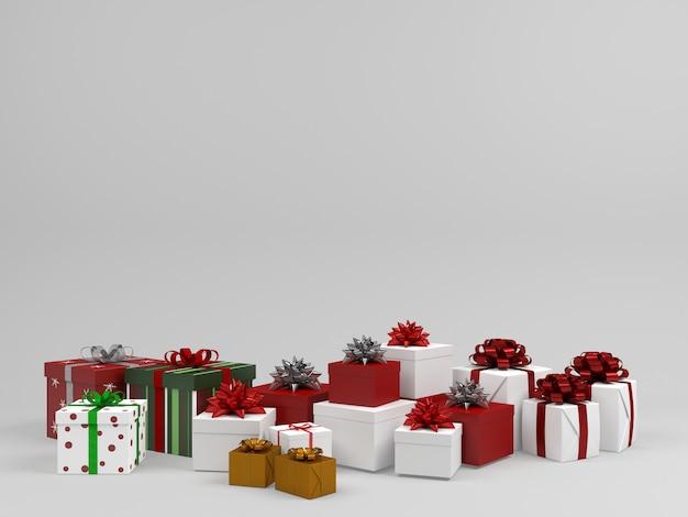 Fondo de pastel de caja de regalo de navidad