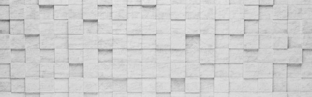 Fondo de patrón 3d de cuadrados grises