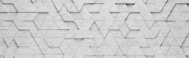 Fondo de patrón 3d de triángulos grises