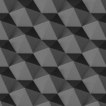 Fondo de patrón heptagonal de arte de papel gris oscuro 3d