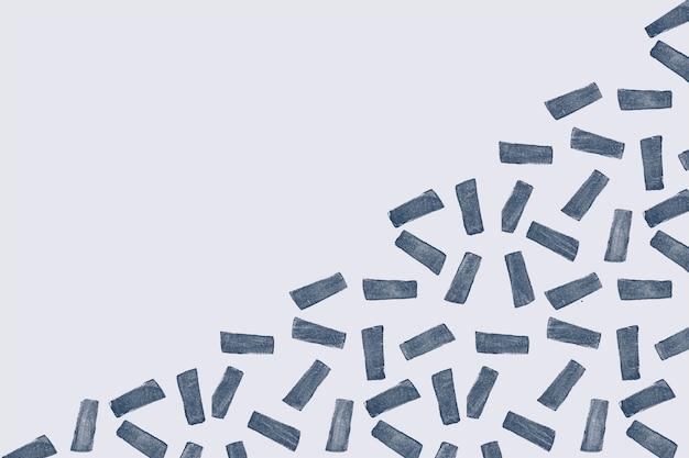 Fondo de patrón de impresión de bloque de rectángulo azul