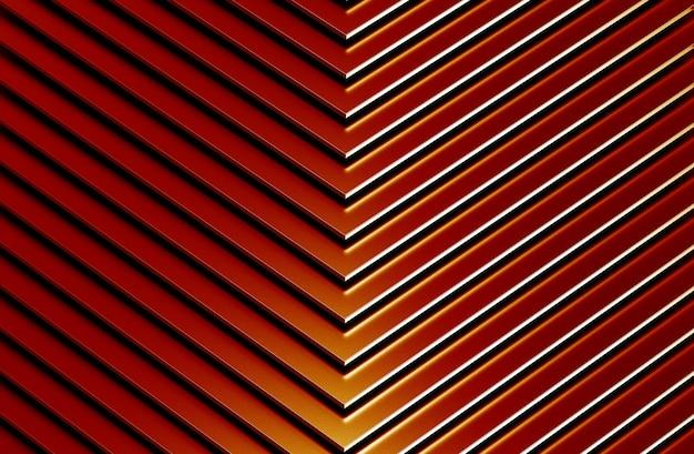 El fondo de patrón de metal rojo abstracto. ilustración 3d.