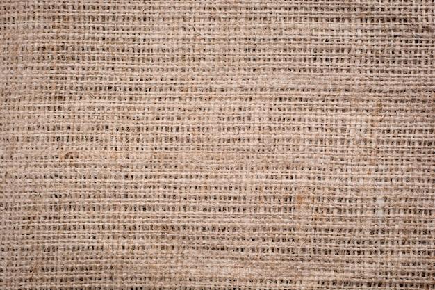 Fondo de patrón de textura tejido de arpillera de arpillera