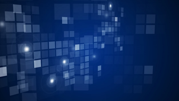 Fondo de perspectiva que fluye de la rejilla de rectángulo abstracto azul que fluye