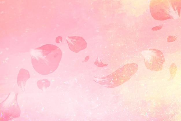 Fondo de pétalo de rosa rosa estética