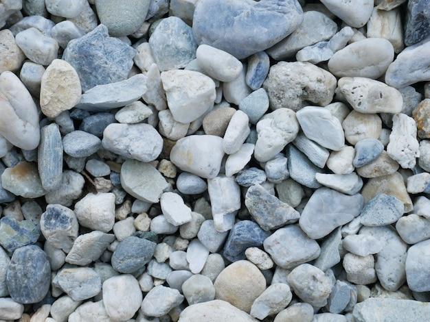 Fondo de piedra blanca, playa de guijarros blancos