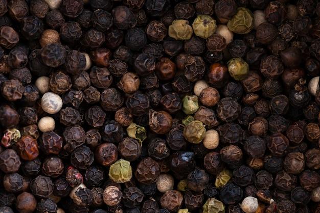 Fondo de pimienta negra seca
