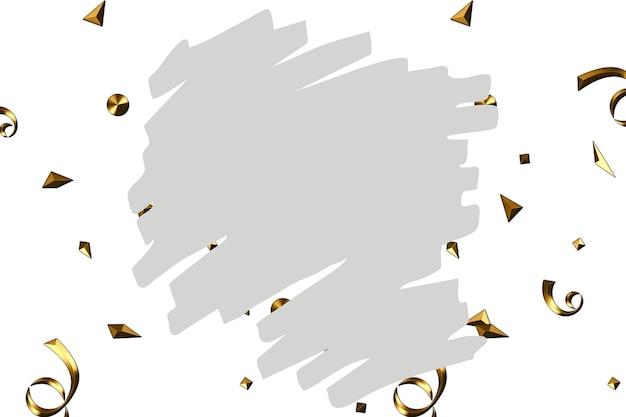 Fondo de pincel gris pastel abstracto y chispas en oro. fondo de logo de belleza y moda.