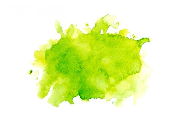 Fondo pintado acuarela verde