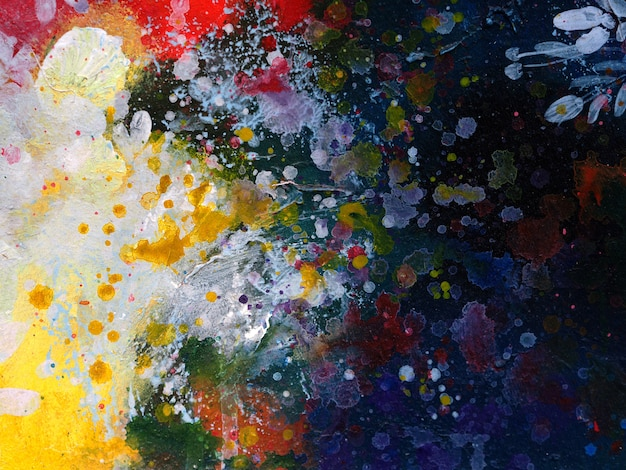 Fondo de pintura acrílica colorida abstracta