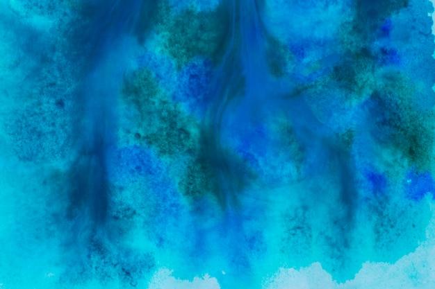Fondo de pintura acuarela azul oscuro