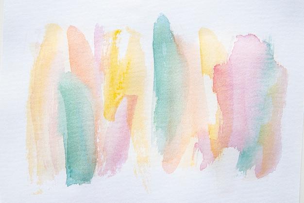 Fondo de pintura de acuarela de vista superior