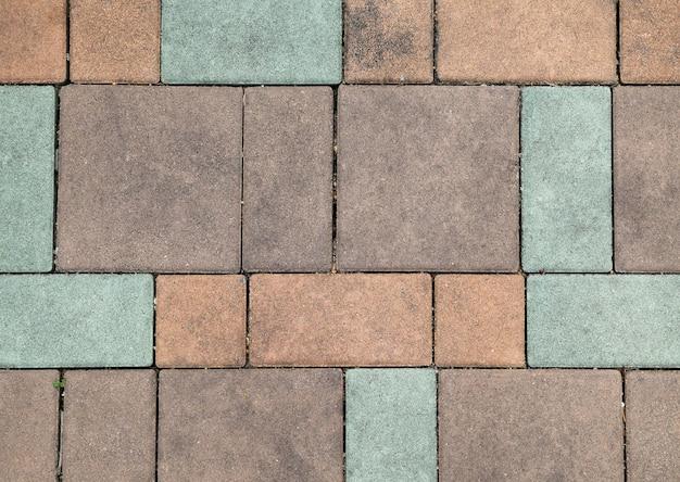 Fondo de piso al aire libre de ladrillo pastel