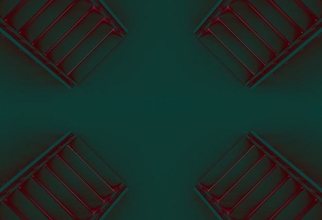 Fondo de piso de escaleras de color de misterio abstracto.