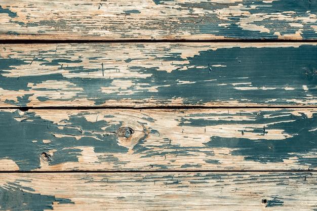 Fondo de piso de madera dañado