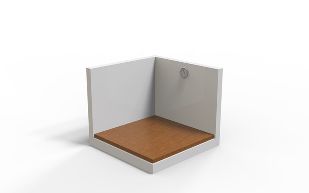 Fondo de piso de madera de renderizado 3d