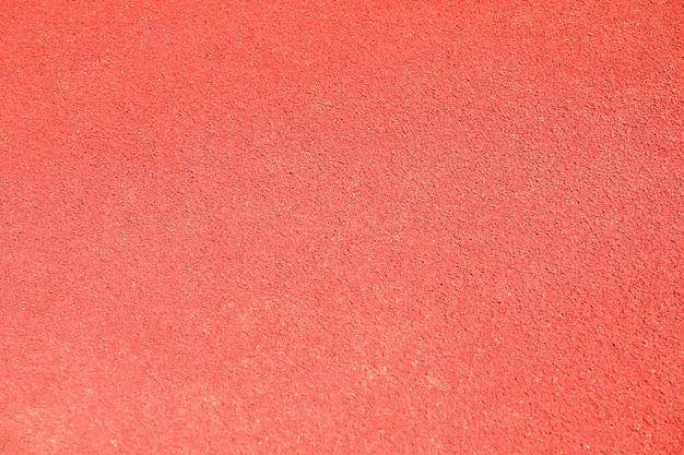 Fondo de pista de goma roja, vista superior