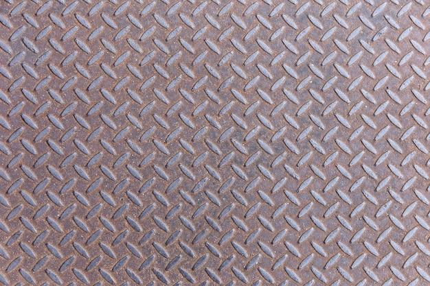 Fondo de placa de metal de acero oxidado diamante