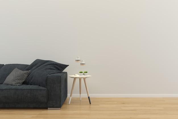 Fondo de plantilla de casa interior de sala de estar