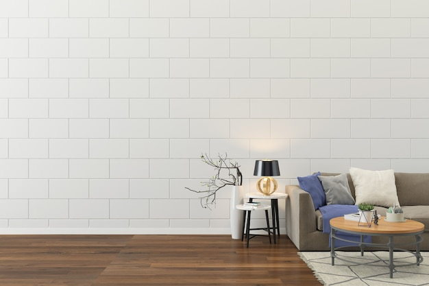 Fondo de plantilla de salón interior pared casa piso