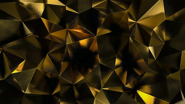 Fondo poligonal abstracto oro