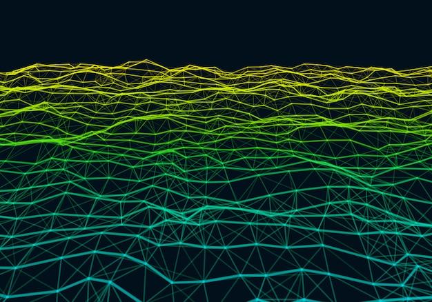 Fondo polivinílico bajo de la pendiente colorida poligonal abstracta.