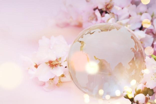 Fondo de primavera con flor