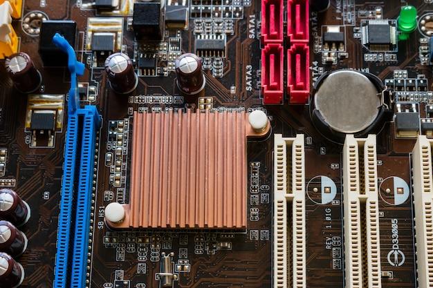 Fondo de primer plano de chip de computadora