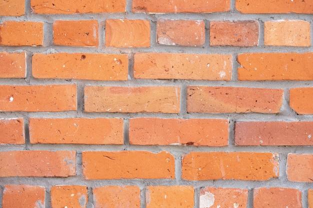 Fondo de un primer plano de pared vieja de ladrillo